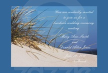 Whitewaves Beach Themed Weddings / I love the idea of a beach themed wedding.  I have numerous invitations, save the dates and other items in my zazzle store.  www.zazzle.com/whitewavespaperie*/  If you like beach weddings, you might just like these.