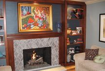 Tile Fireplaces / Tile Fireplaces designed and built by Paul Walker of Custom Masonry and Fireplace Design in San Diego, California