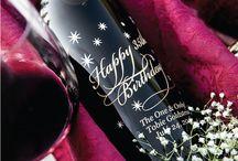 Happy Birthday Etched Wines
