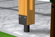 vigas y columnas madera