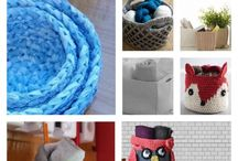 crochet. baskets