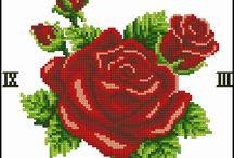 rosas punto en cruz