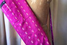Yoga Bag / Made from Silk Sari fabric
