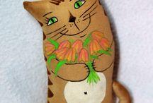 Игрушки - коты кофейные 2