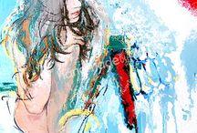 """SALIGIA """"VII Grzechów Głównych"""" / SALIGIA – to cykl siedmiu obrazów – aktów kobiecych – malowanych techniką mieszaną /olej, tempera, plakatówka/ na płótnie, przedstawiający VII Grzechów Głównych.  Są to: - PYCHA (Superbia) - CHCIWOŚĆ (Avaritia) - NIECZYSTOŚĆ (Luxuria) - ZAZDROŚĆ (Invipia) - NIEUMIARKOWANIE (Gula) - GNIEW (Ira) - LENISTWO (Acepia)"""