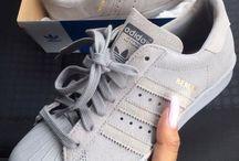 Nike adidas shoes grey