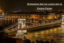 Destinations that one cannot miss in Eastern Europe / Romantic Charles Bridge, Historic architecture and secret courtyards in Prague, Theatine Church in munich, Marienplatz, Mirabell Gardens, Bratislava Castle, Devin Castle, Most SNP bridge, Szechenyi Chain Bridge, Vienna & many more. These are some of the most famous landmarks of Eastern Europe. They packed with history, natural beauty, culture, good foodies . . . will continue to attract millions of visitors every year.