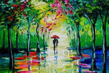 Splashes of paint