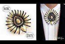 Jewelry: Fabric/Fibers Broochs, Pins