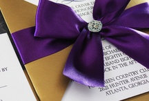 Purple and gold wedding theme / Ideas for a purple and gold wedding theme
