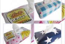 hoesjes voor om tissuedoos / tissue doos cover
