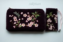 embroidered wallet 'n bag