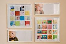 Herinneringen bewaren / Tekeningen, knutselwerkjes, je komt er soms in om als moeder zijnde. Wat doe je ermee? Inspiratie vind je hier!