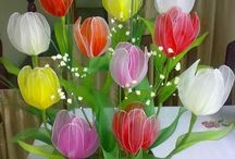 kvety zo silonu