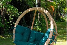"""Amazonas Globo Hanging Chair / The """"Globo Swing Chair"""" is equipped with a big soft cushion which makes it a real cozy place to spend your days and evening either reading a book or relaxing."""