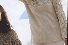 Джемпер пуловер спицы