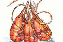 The Drunk Shrimp : restaurant menu pics/ sketch