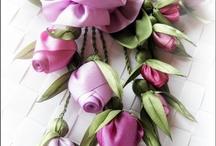Nigar Hikmet #Ribbon embroidery #Crafts #@Af's 25/4/13