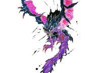 MORENO ART DRAGON / Una raccolta di disegni e raffigurazioni di draghi in pastelli acquerellabili!