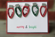 Christmas Lights Shaker {Die Set} / This Christmas Lights shaker die set can create darling shaker elements or inlay with coordinating colored cardstock!  Coordinates with our Shine Bright Stamp Set.