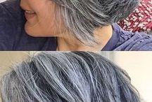 grijs haar kapsels