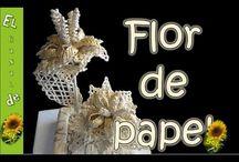 Papírfonás - Virág