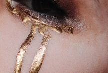 Glitter and makeup