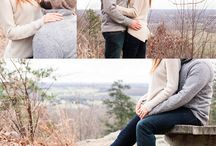 Casual winter wedding session