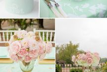 .mint and yellow. / wedding