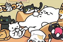 Neko Atsume / Cute little app for iOS or android . Cute little cats collector