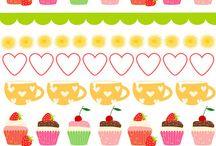Cake, Sweet,  biscuit, Food Patterns