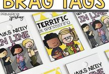For my class - brag tags