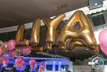 Mylar Names in Balloons / A curated gallery of beautiful mylar balloon names we have done.