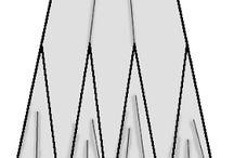 Hosszanti szabásvonalakkal kialakított szoknyák