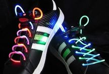 LED Lighted Shoelaces / Led shoelaces are battery operated and completely safe. Neon colors shine radiant and bright enhancing safety at night time. Three modes of operation controlled by a simple push button operation.