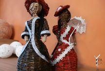 Bábiky/ Dolls / Pletenie z papiera.