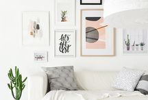 INTERIORS / Bright open interiors, subway tiles, hardwood floors, plants galore, bright pops of color, fun touches, sustainable interior ideas