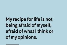 The Love Quotes Celebrity Quotes : GIRLBOSS QUOTE: My recipe for life is not being afraid of myself, afraid of what…