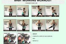 Baby wearing exercises