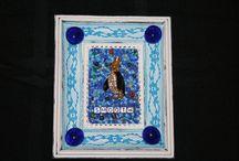 Mosaic Birds / mixed media mosaics
