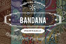 BANDANA PAPERS / DIGITAL PAPERS - BANDANA PAPERS BY DIGITAL PAPER SHOP