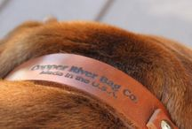 Dog Collars / This board features stylish leather dog collars! For more quality dog collars, bags and accessories go to http://www.copperriverbags.com/