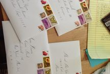 Snail Mail / We love anything regarding stamps and beautiful hand drawn addressing