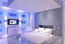 LED Sprinkled Bedrooms <3 / We're all about mood lighting in the right places. The bedroom, as your personal sanctuary of comfort, relaxation, sensuality and love should represent your personality and desires. Here are some photo's for inspiration.