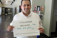 National Volunteer Week 2015 / April 12-18, 2015 was National Volunteer Week. CYDC marked the celebration by spotlighting its mentors and volunteers in social media and blog posts that recognized their service and allowed them to share in their own words why they volunteer with youth. Each volunteer who participated held up a placard that indicated the reason why they serve.