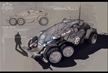 Vehicles: APC / army trucks