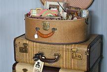ретро,винтаж - чемодан в современном интерьере