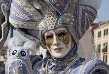 Masques et marionnettes masques vénitiens venetian masks masqueradas masques de théâtre... / Masques de toutes sortes, mais aussi marionnettes.... je veux me constituer une collection et en fabriquer en terre