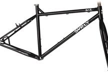 "Single-speed mountain bike / MTB on Surly 1x1 frame, 26""."