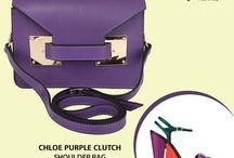 Chloe Purple clutch / cross body bag